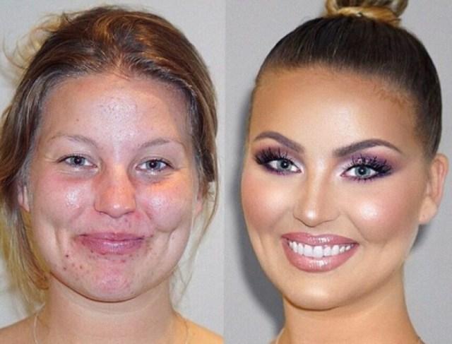 """""""До и После"""": как макияж может изменить женщину до неузнаваемости"""