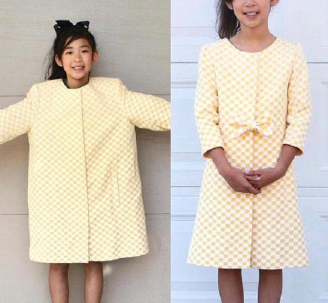 Мама превращает старую одежду в шикарные наряды для себя и дочерей
