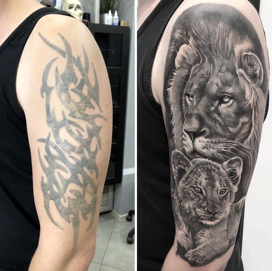 Фотографии татуировок с именами оля и дима только