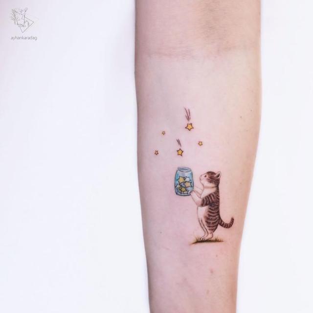10 милых цветных тату, которые понравятся даже тем, кто терпеть их не может