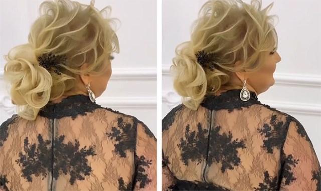 Парикмахер кардинально изменила женщину сделав шикарную прическу из ее редких волос