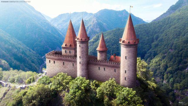 Как выглядели европейские замки до того, как превратиться в руины