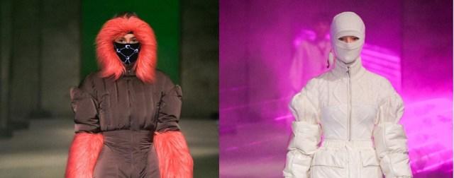 На Неделе моды в Париже модели появились в дизайнерских защитных масках