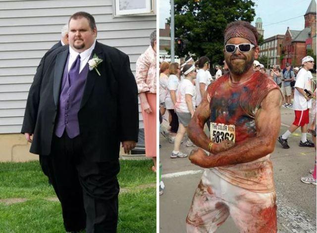 """20 людей, которые смогли скинуть больше 40 кг самостоятельно. Фото """"до и после"""""""