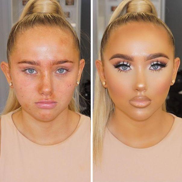 Оранжевые лица. Визажист, который перекрывает людям лица косметикой, превращая в других