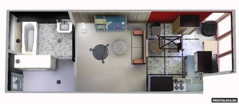 дизайн интерьера студии 25 кв метров фото 5
