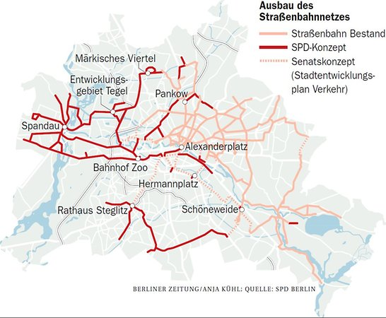 SPD-Ausbaupläne Straßenbahn 2017