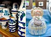 Maceteros de granada y Bellea de cerámica