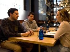 Ed y José Antonio con Ana de Ocio Magazine