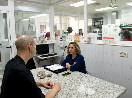 James y Ana durante la entrevista