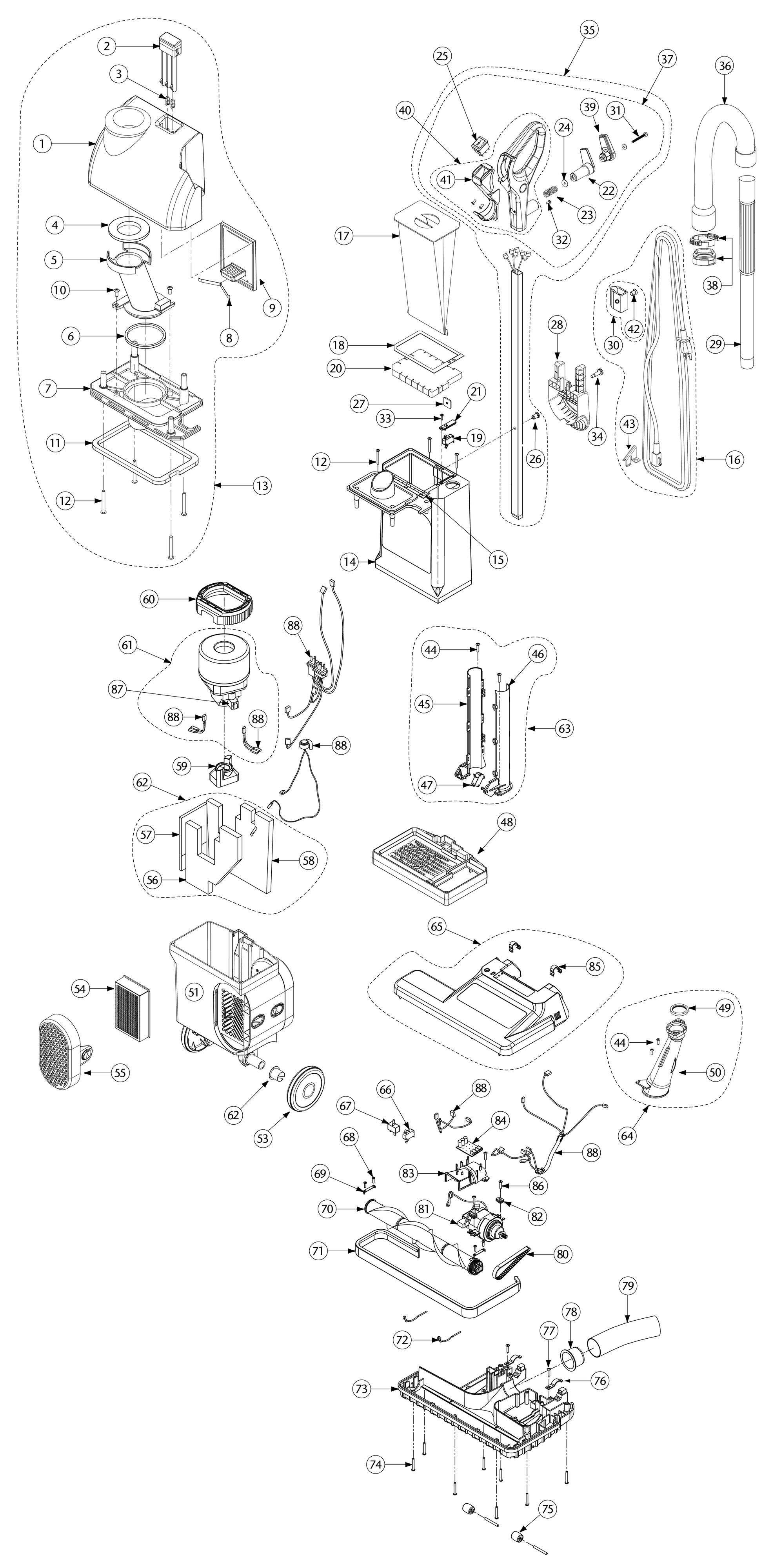 Parts List for 107252