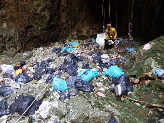 Εικόνα απο το εσωτερικό του σπηλαίου, Κορύλοβος 2012