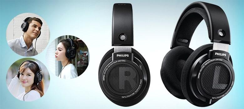 Philips Audio Philips SHP9500 HiFi Precision Stereo Over-Ear - Best Open Back Headphones Under $100