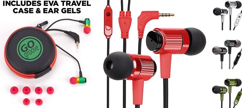 Heavy Duty in ear Headphones with Microphone