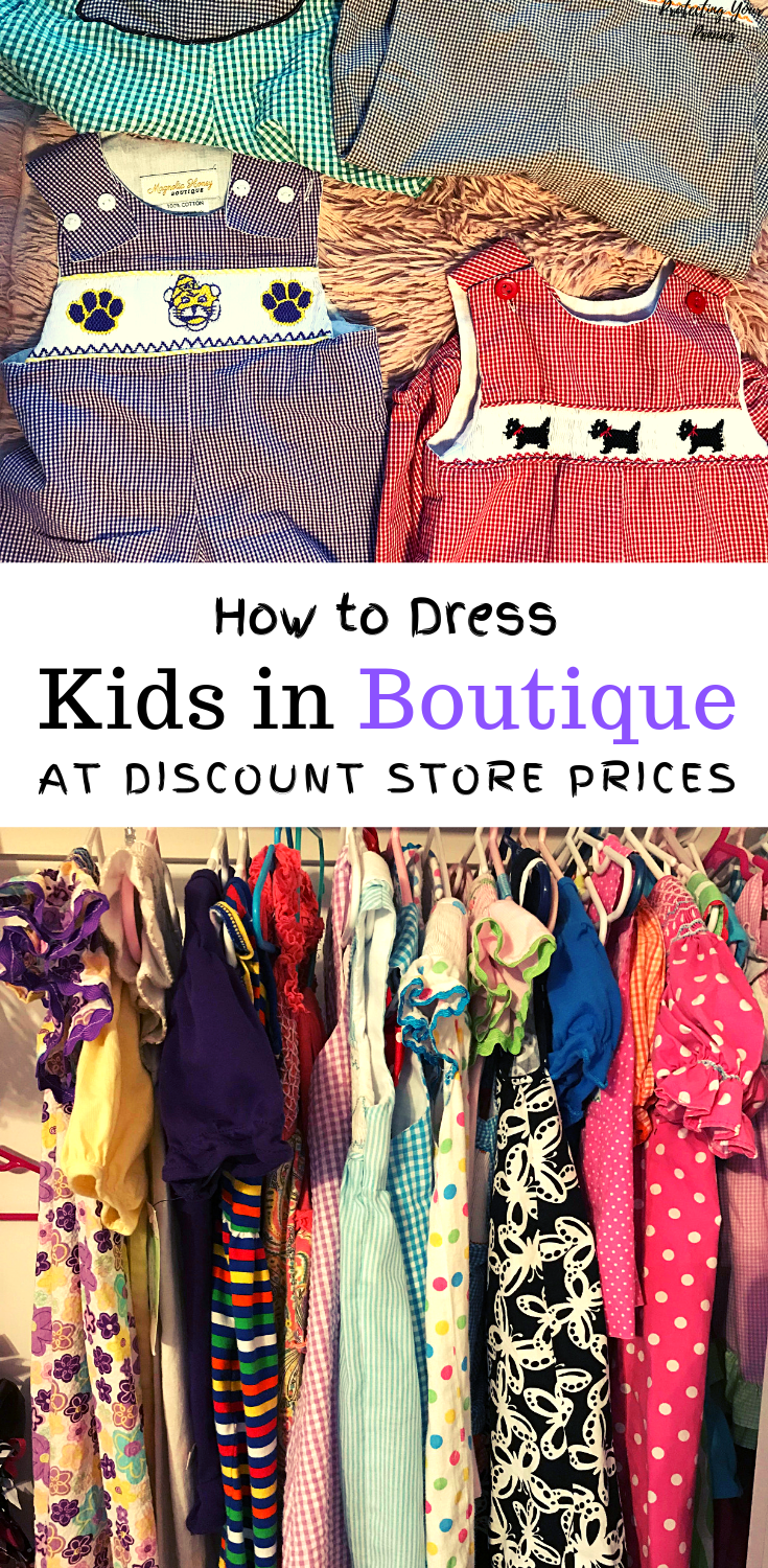 How To Dress Kids In Boutique Clothes at Discount Store Prices