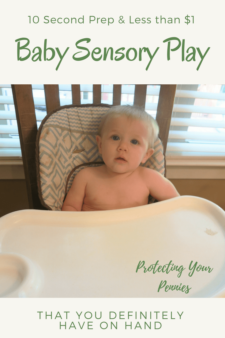 Baby Sensory Play with less than a dollar and a minute