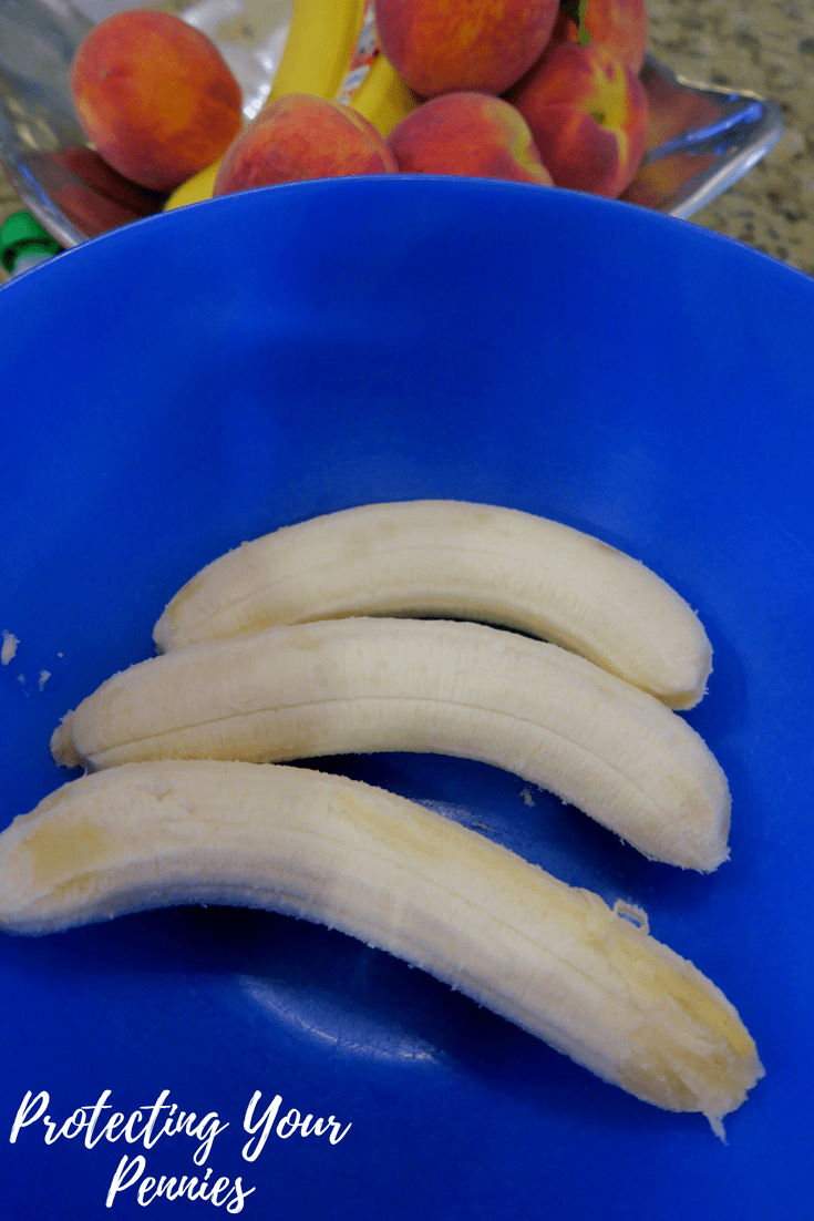 Bananas in a Blue Bowl