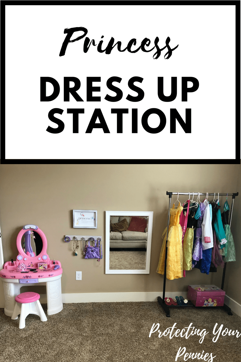Princess Dress up Station with Step 2 Fantasy Vanity