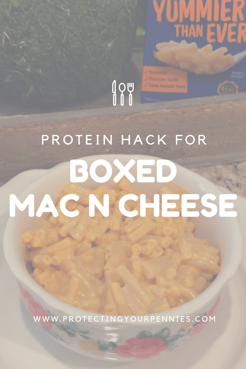 Protein hack for boxed mac n cheese