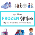 Frozen Gift Guide with 45+ Ideas for the Frozen Obsessed Child - Adorable Queen Elsa and Princess Anna find for Girls and Olaf items For Boys that Love Frozen! Perfect presents for birthday or Christmas.