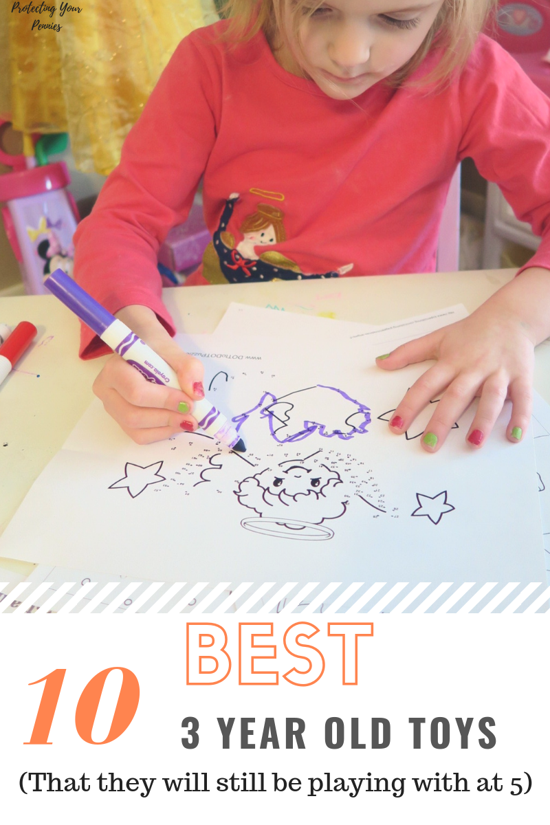 10 Best 3 Year Old Toys That they will still be playing with at 5 years old. Fun toys and creative crafts will keep your child using their imagination.