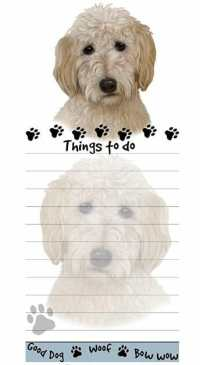 Magnetic Goldendoodle list pad