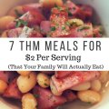 7 Frugal Trim Healthy Mama Dinners