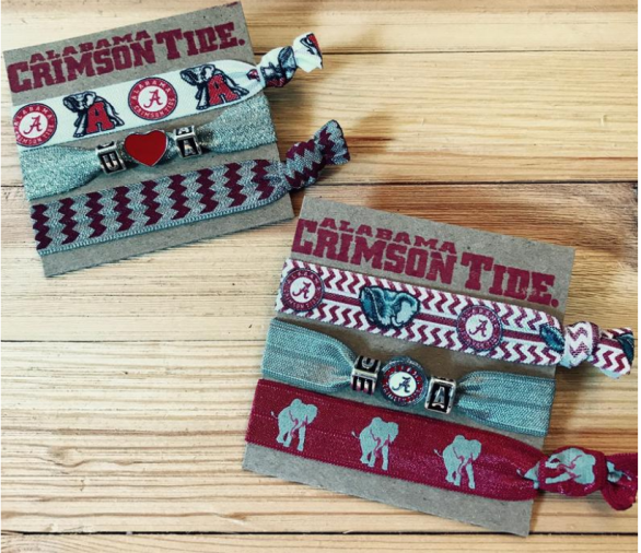 University of Alabama Graduation Gift Idea - Team Themed Ponytail Hair Ties