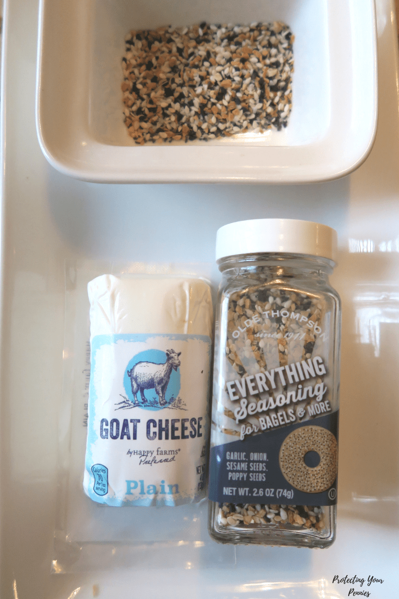 Everything Bagel Goat Cheese Log Ingredients for Low Carb Trim Healthy Mama S Starter