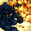 Blueberries, Almonds, Cottage Cheese Bowl