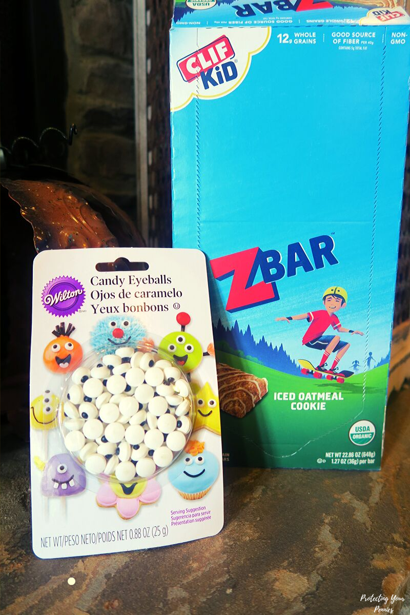 Candy Eyeballs and Clif Z Bars