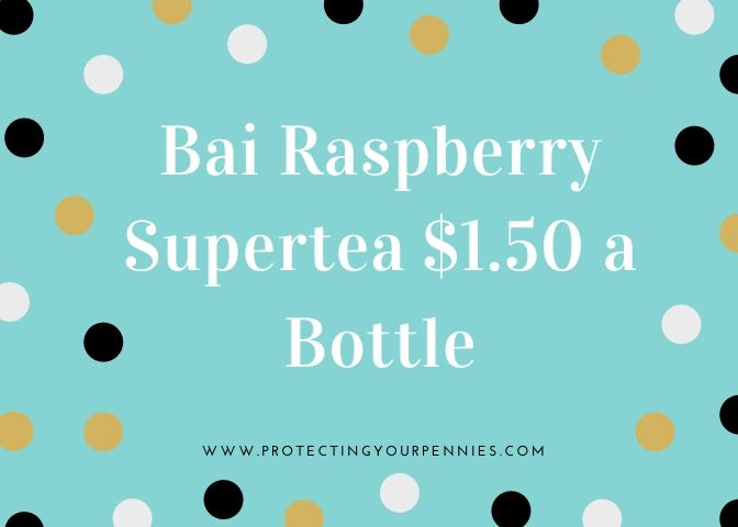 Bai Raspberry Supertea $1.50 A Bottle