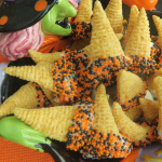 Halloween Witch Hat Bugles dipped in Sprinkles