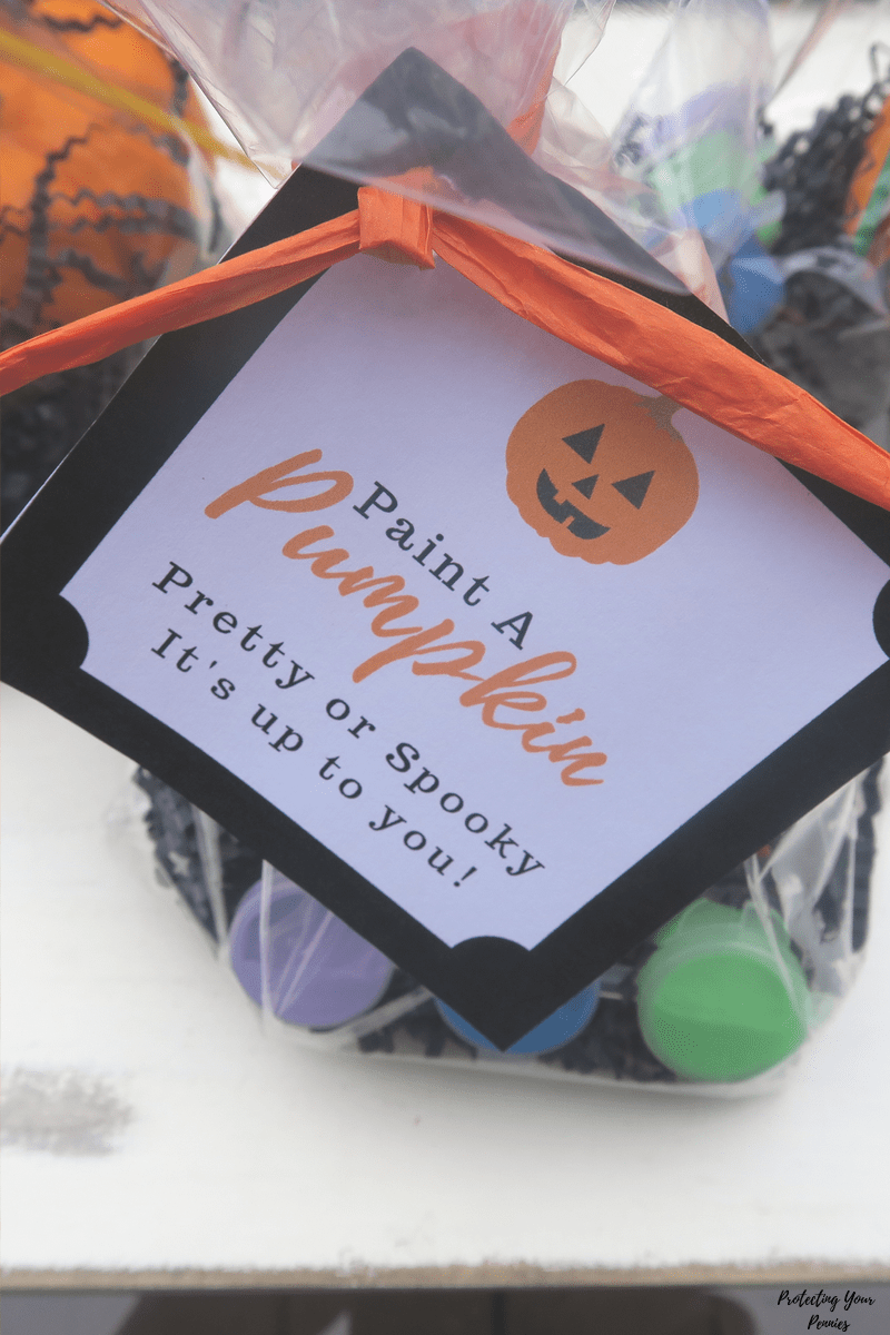 Paint A Pumpkin Pretty Or Spooky - Kid Painting Favor Kit