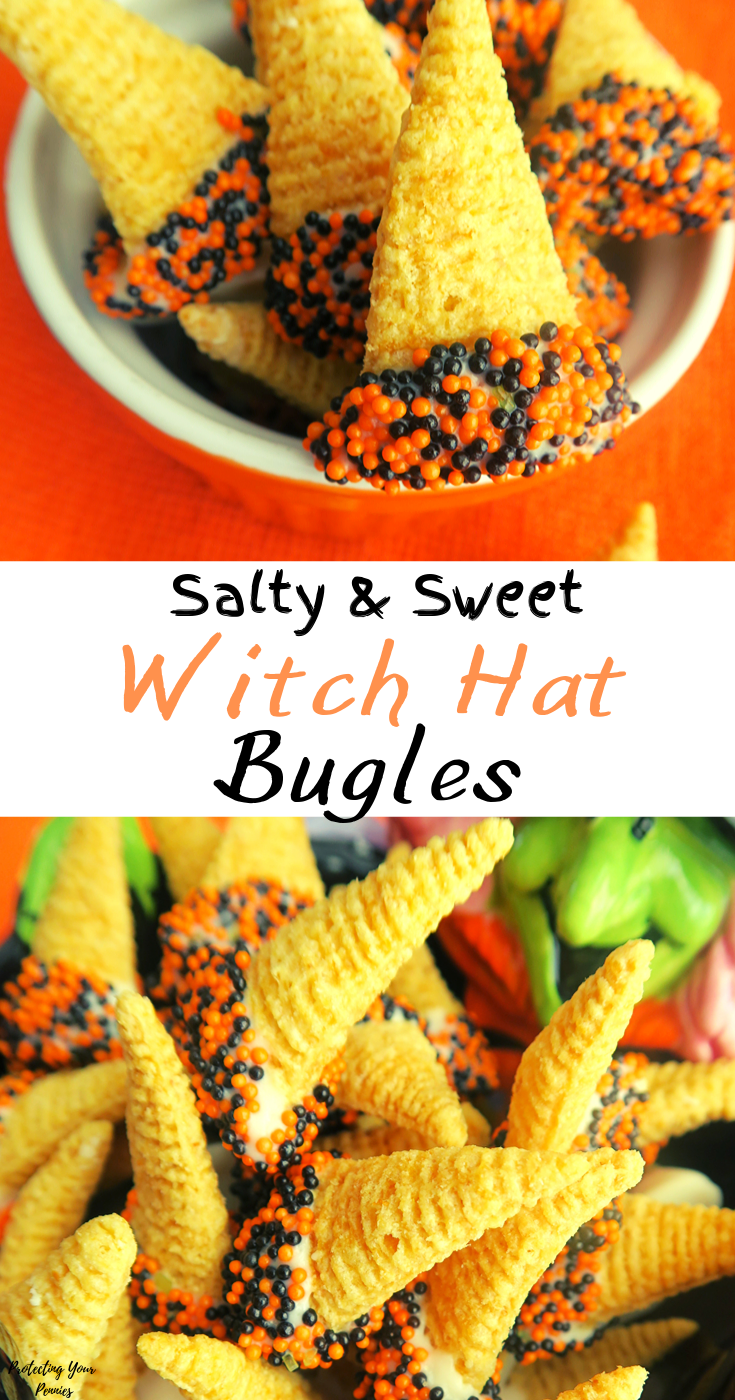 Salty and Sweet Halloween Witch Hat Bugles