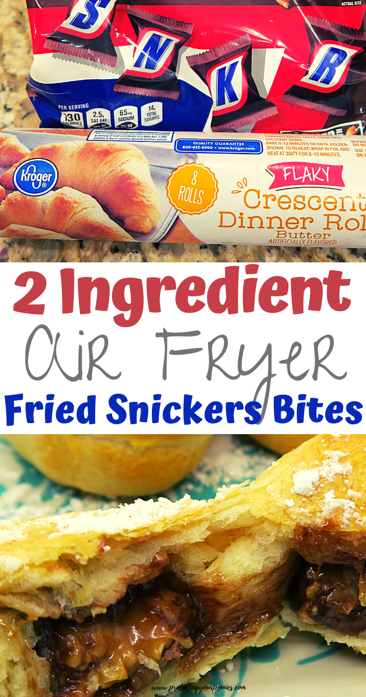 Easy 2 Ingredient Air Fryer Fried Snickers Bites