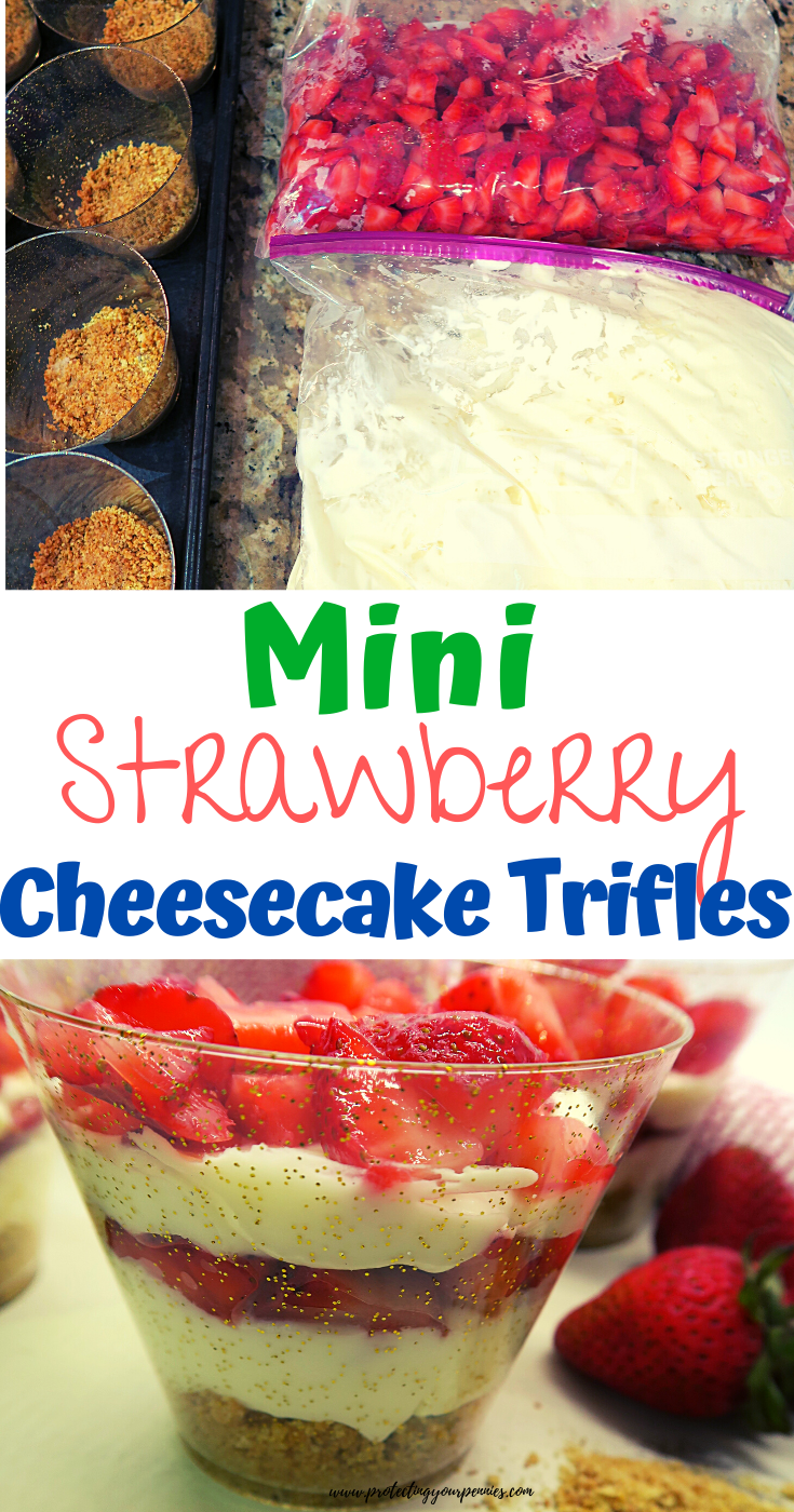 No Bake Strawberry Cheesecake Dessert Trifle Cups