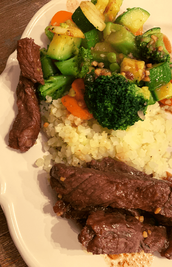 Korean Beef Stirfry with Cauli Rice