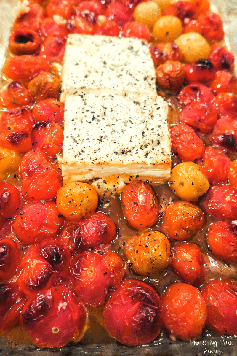 Broiled Baked Feta Hack with Tomatoes