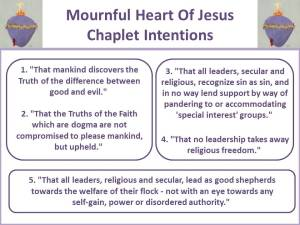 Mournful Heart Chaplet Intentions