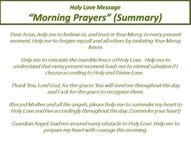 Morning Prayer Summary II