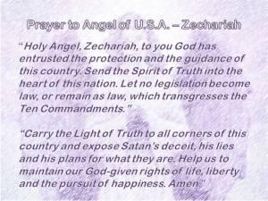 Zechariah Prayer for US