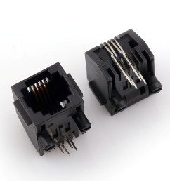 rj45 modular jack side entry low profile with flange psy002 [ 2968 x 2351 Pixel ]
