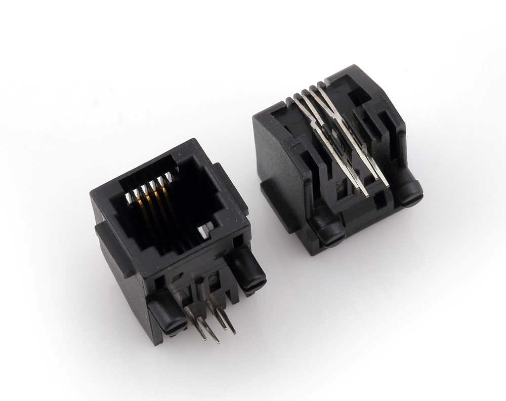 medium resolution of rj45 modular jack side entry low profile with flange psy002