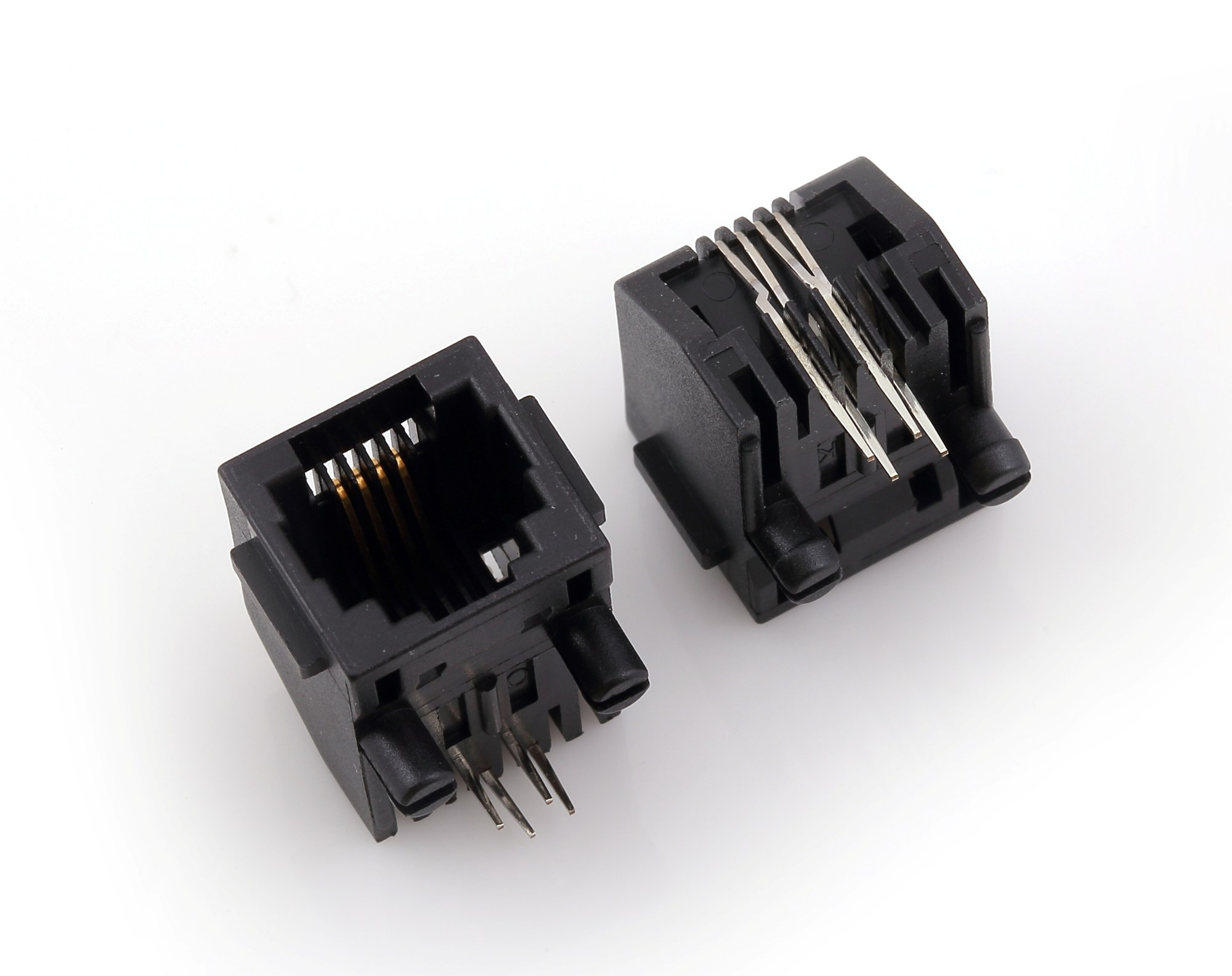hight resolution of rj45 modular jack side entry low profile with flange psy002