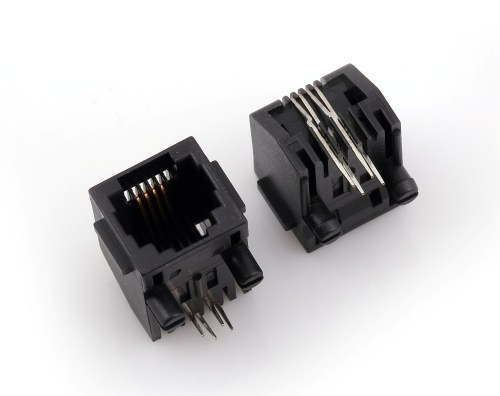 small resolution of rj45 modular jack side entry low profile with flange psy002