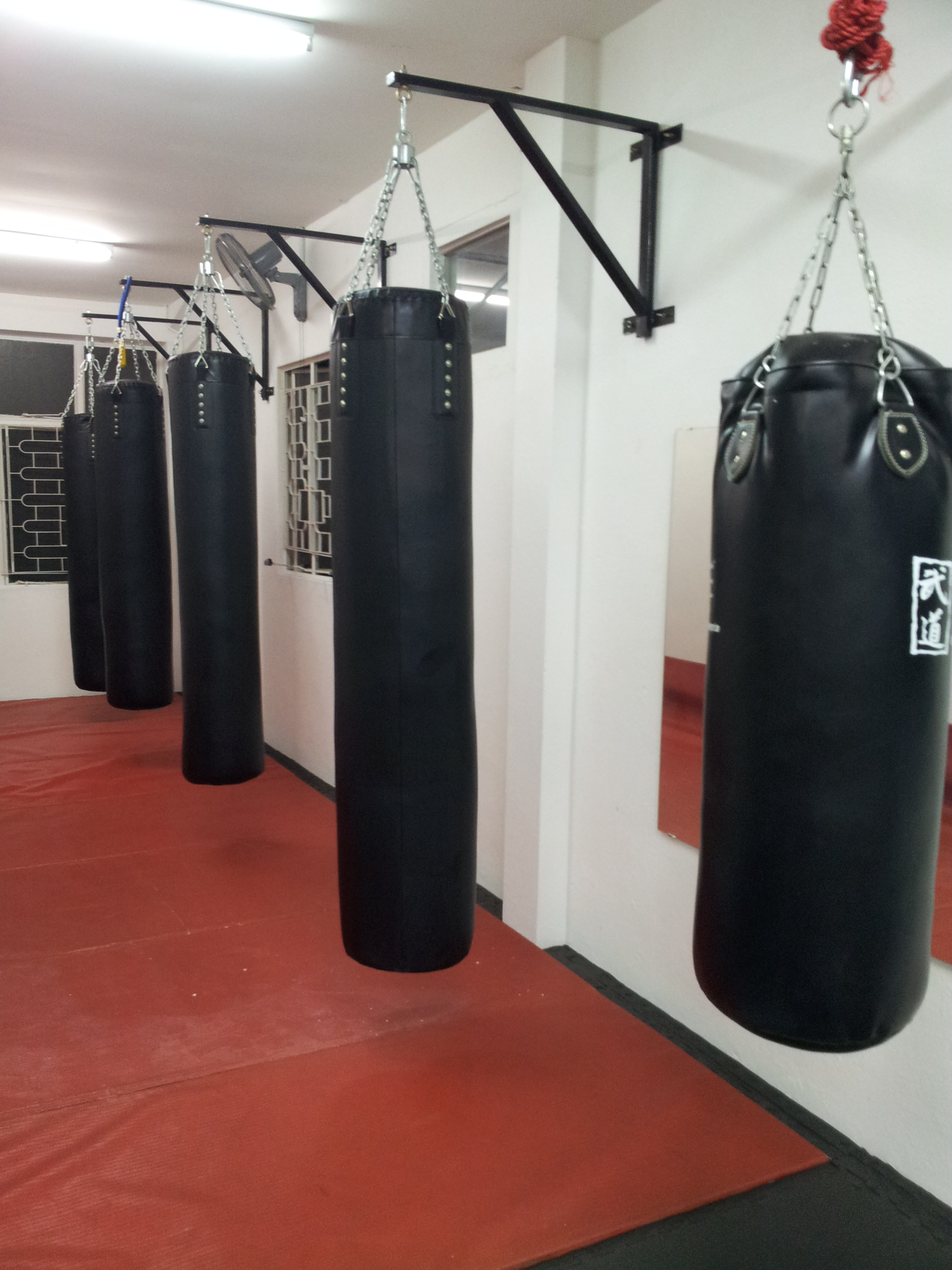 gym with punching bags
