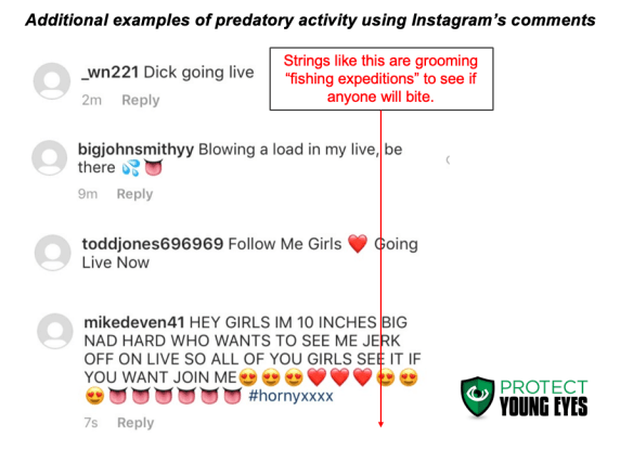 Pedophiles Exploit Instagram - Comments