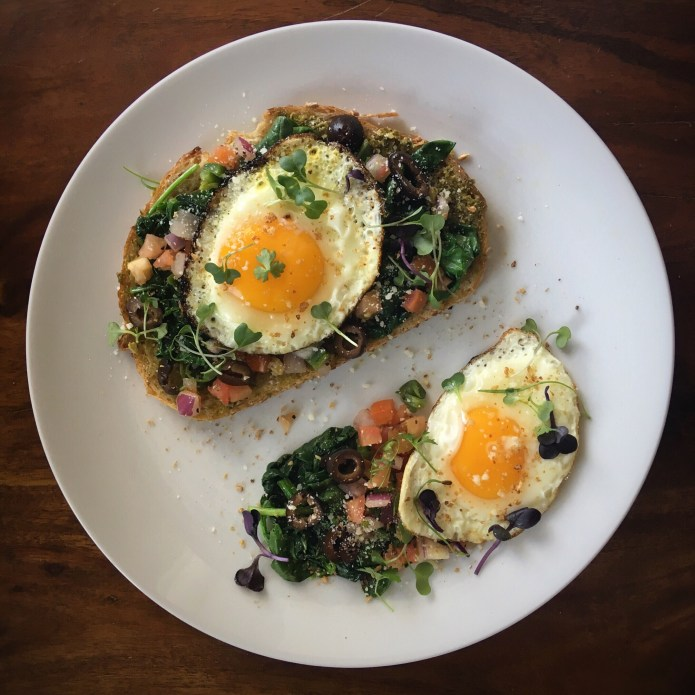 Egg and Veggie Nest on Sourdough Toast