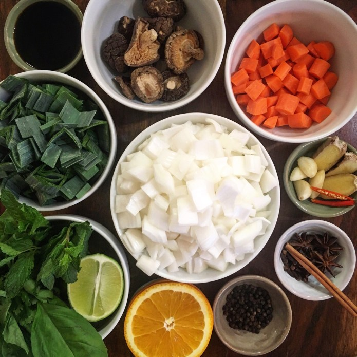 What Melissa Make Mise En Place 5: Carrots, Onions, Leeks, Mushrooms, Orange, Lime, Garlic, Ginger, Spices